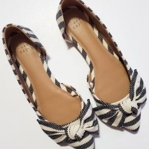 A NEW DAY WOMEN´S NAVY WHITE BOW FLATS